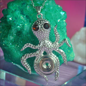 Jewelry - Interchangeable Snap Button Octopus Necklace